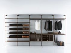 Offering three different types of wardrobe structures, Storage is the first sectional system that creates continuity of space in the whole wardrobe. The..