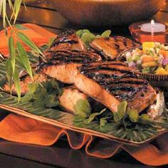Grilled Mahi Mahi Recipe- Recipes Instead of grilling out the usual hamburgers or chicken breasts, prepare this mahi mahi from our Test Kitchen and reel in raves! Grilling Recipes, Fish Recipes, Seafood Recipes, New Recipes, Cooking Recipes, Favorite Recipes, Healthy Recipes, Tilapia Recipes, Orange Recipes