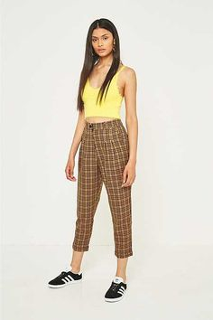 Urban Renewal Remnants Country Checked Trousers