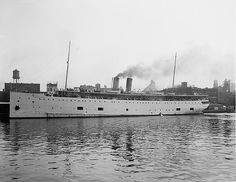 The SS Eastland was a passenger ship based in Chicago and used for tours. On July 24, 1915 the ship rolled over while tied to a dock in the Chicago River. A total of 844 passengers and crew were killed in what was to become the largest loss of life disaster from a single shipwreck on the Great Lakes.
