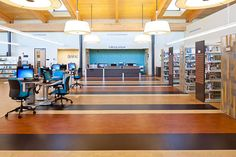 Oley E Rooker Library, Central Arkansas Library System, LEED Silver certified; designed by Allison Architects, Inc.