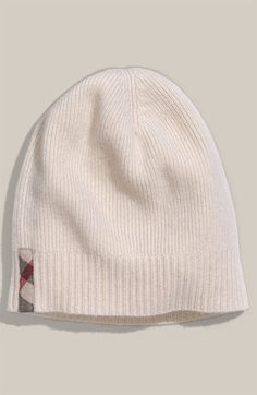 burberry silk scarf outlet g2qx  Burberry Cashmere Beanie