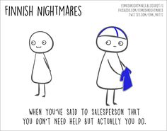 """Finnish illustrator Karoliina Korhonen has created a funny series of cartoons that she published in a book """"Finnish Nightmares: An Irreverent Guide to Life's Awkward Moments"""". It depicts typical Finns, but we are pretty sure even non-Finns can relate. Video Games List, Video Games For Kids, Kids Videos, Introvert Humor, Free Episodes, Carl Jung, Diy Phone Case, Awkward Moments, Understanding Yourself"""