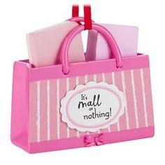 Shopping Hallmark Gift Ornament,