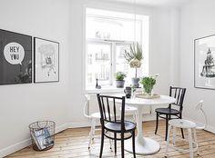 Zwart Wit interieur in Zweden