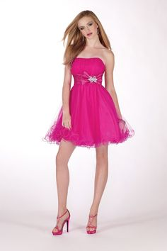 @Alyce Paris 35481strapless baby doll #cocktail #homecoming #dresses #IPAProm