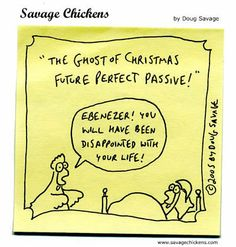 Grammarly Blog | Ghost of Christmas Future Perfect Passive