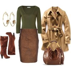 Polyvore. I totally would  love a pair of suede boots that match a suede pencil skirt and a purse