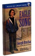 Lesson plan for Eagle Song by Joseph Bruchac. Danny Bigtree's family has moved to a new city, and Danny can't seem to fit in. The nine-year-old is homesick for the Mohawk reservation they left behind and faces daily teasing from his classmates. When Danny's father shares the story of the great Iroquois peacemaker Aionwahta (Hiawatha), Danny begins to understand the powerful message of enemies.