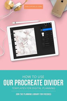 If you love digital planning on the iPad you're going to love our Procreate tutorial on how to make your own dividers to match our Pixel Planners! I'll walk you through the steps to use this FREE template. Ipad Pro, Adobe Illustrator, Digital Journal, Digital Art, Photoshop, Celebration Quotes, Apple Ipad, Happy Planner, Planner Stickers