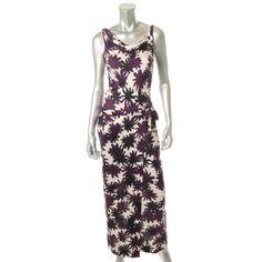 DIANE VON FURSTENBERG Womens Louanne Silk Printed Maxi Dress