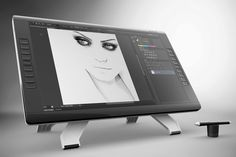 Wacom Cintiq 22HD touch Mock Up by mock_up_store on Creative Market
