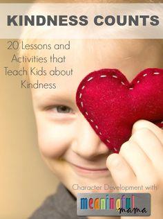 20 Ways to Teach Kids about Kindness via MeaningfulMotherhood #kidsactivities #kindness