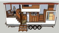 """3D Model of Tiny House 24 foot """"the Boxcar"""""""
