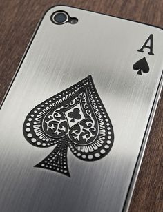 truffol.com | Ace of Spades iPhone case. If I had an iPhone I would definitely have this! http://www.cyankart.com/pages/cases-skins