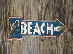 Vintage style tin metal sign // beach house gift by RinTinSignCO