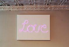 DIY Neon Love Sign by Meg Allan Cole for HGTV Handmade