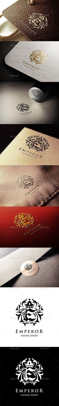 Emperor Resort Logo — Vector EPS #royal #kings • Available here → https://graphicriver.net/item/emperor-resort-logo/11281945?ref=pxcr