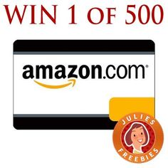 Win 1 of 500 Amazon Gift Cards