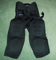 Men's Black NIKE TEAM Football Padded Knee High Shorts, Belt Strap, Size M, GUC! #NIKETEAM