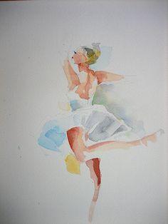"""Aquarell""""Ballett"""",Fabriano Papier"""