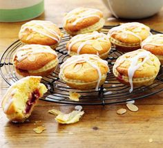 Cherry & almond tarts - BBC Good Food - These mini Bakewell bites combine pastry and cake are designed for making in batches and cooking from frozen