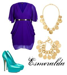 """""""esmeralda take 2"""" by miajomason on Polyvore featuring City Chic, Chanel and Kenneth Jay Lane"""