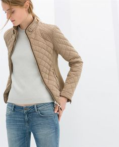 ZARA - NEW COLLECTION - COMBINATION QUILTED JACKET