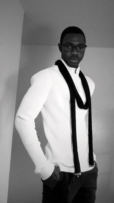 Men's fashion / fashion for men , ready for fall, scarf, sweater, pant