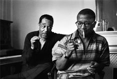 Duke Ellington & Billy Strayhorn, Paris, France, 1960 by Herman Leonard Famous Musicians, Jazz Musicians, Jazz Artists, Soul Music, Sound Of Music, Music Den, Mahalia Jackson, Great American Songbook, Music Pics