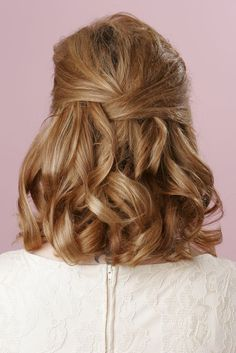 simple shoulder length half up curly hairstyles - Google Search