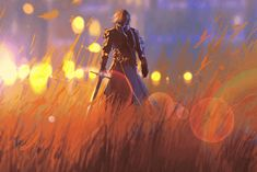 Illustration about Knight warrior standing with sword in field,illustration painting. Illustration of medieval, orange, purple - 72518409 Warriors Standing, Prince Zuko, Fantasy Books, The Last Airbender, Image Photography, Vector Art, Knight, Medieval, Horror