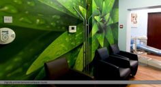 Full colour digitally printed textured wallpaper for commercial and residential application feature walls