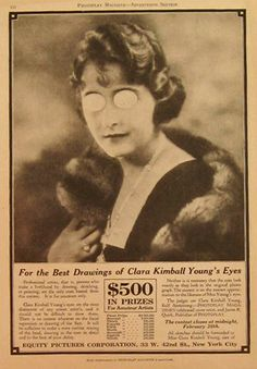 1920s Movie Advertisements | Original (and sort of strange and creepy) vintage contest ad asking ...