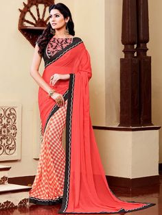 Style and luxury is specially created for your personality.  Item code:SDH1721 http://www.bharatplaza.com/new-arrivals/sarees.html
