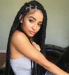 Box braids ~follow up for more coz my pins be poppin' @lil.venni ~❤✨