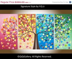 Original Large Acrylic landscape painting  Impasto by QiQiGallery, $310.25....Mom wants this for her bedroom.
