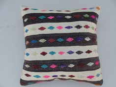 VINTAGE Decorative KILIM PILLOW Cover Kilim Pillow by misterpillow, $52.00