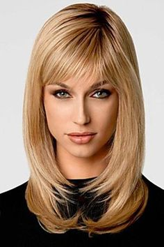 Vogue Straight Tail Adduction Two-Tone Ombre Side Bang Long Synthetic Capless Women's Wig