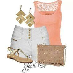 White & peach... Easy & nice...
