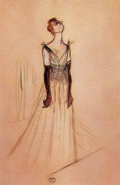 Henri De Toulouse-Lautrec | Yvette Guilbert by Henri de Toulouse-Lautrec on friends-of-art.net