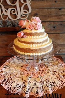 Cheesecake Wedding Cake and the graham cracker looks like sand. We could add purple flowers and sea shells. Does that make sense?
