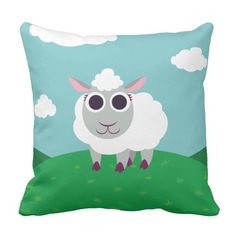 Lulu the Sheep. Regalos, Gifts. #cojín #pillow