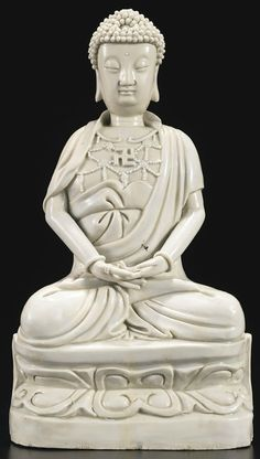 A Dehua figure of Buddha, China,Qing dynasty, 17th-18th century