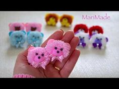 hand embroidery amazing trick# easy trick to make woolen flower with scale# wool flower - Free Online Videos Best Movies TV shows - Faceclips Easy Yarn Crafts, Pom Pom Crafts, Flower Crafts, Diy And Crafts, Crafts For Kids, Easy Hair Bows, Making Hair Bows, How To Make A Pom Pom, How To Make Bows