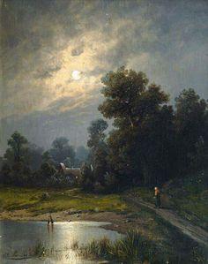 Johann Jungblut Saarburg (1860–1912) - Home coming in moonlight (1894) ■♤♡◇♧☆♤■