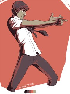 palette meme--Chuck Bartowski in #13. andlatitude . Character Drawing Illustration