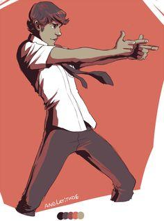 palette meme--Chuck Bartowski in #13. andlatitude . Character Drawing Illustration