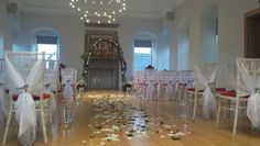 Lovely romantic wedding at Linlithgow Burgh Halls.