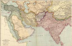A map of the countries between Constantinople and Calcutta including Turkey in Asia, Persia, Afghanistan & Turkestan. Published by Edward Stanford, 1912 Semitic Languages, Old Maps, Ottoman Empire, Historical Maps, Afghanistan, Middle East, Rugs On Carpet, Vintage World Maps, Asia